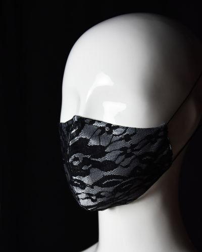 Fekete, mintás maszk